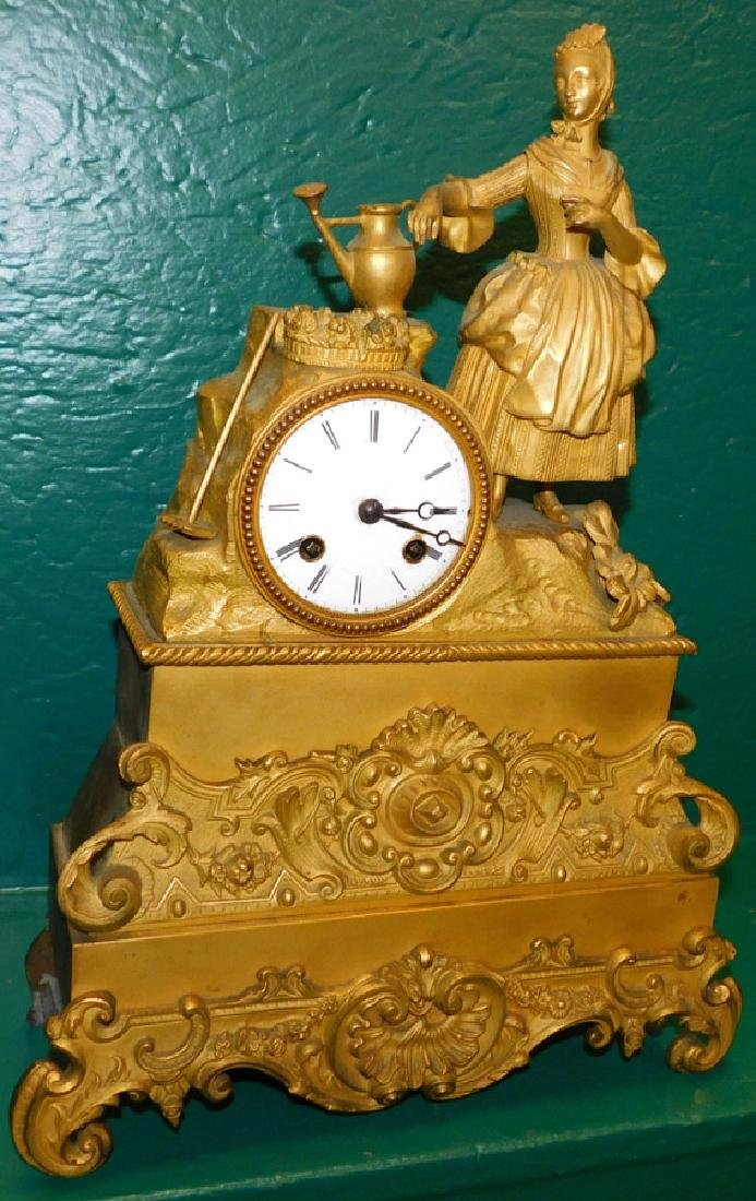French Bronze Mantel Clock