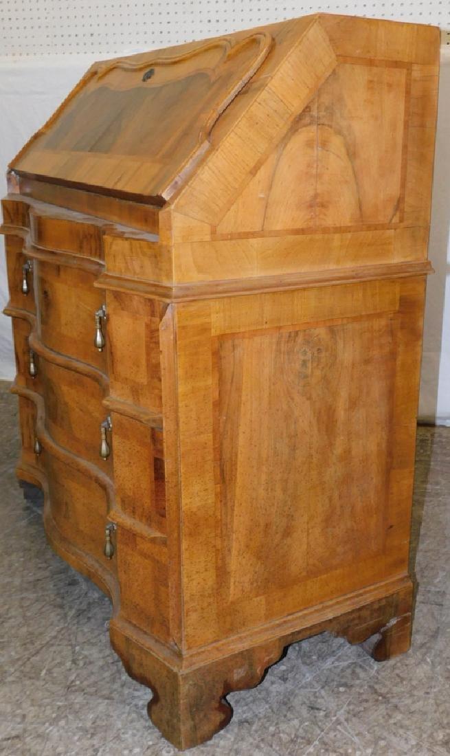 Burled Walnut Italian Slant Front Desk - 4