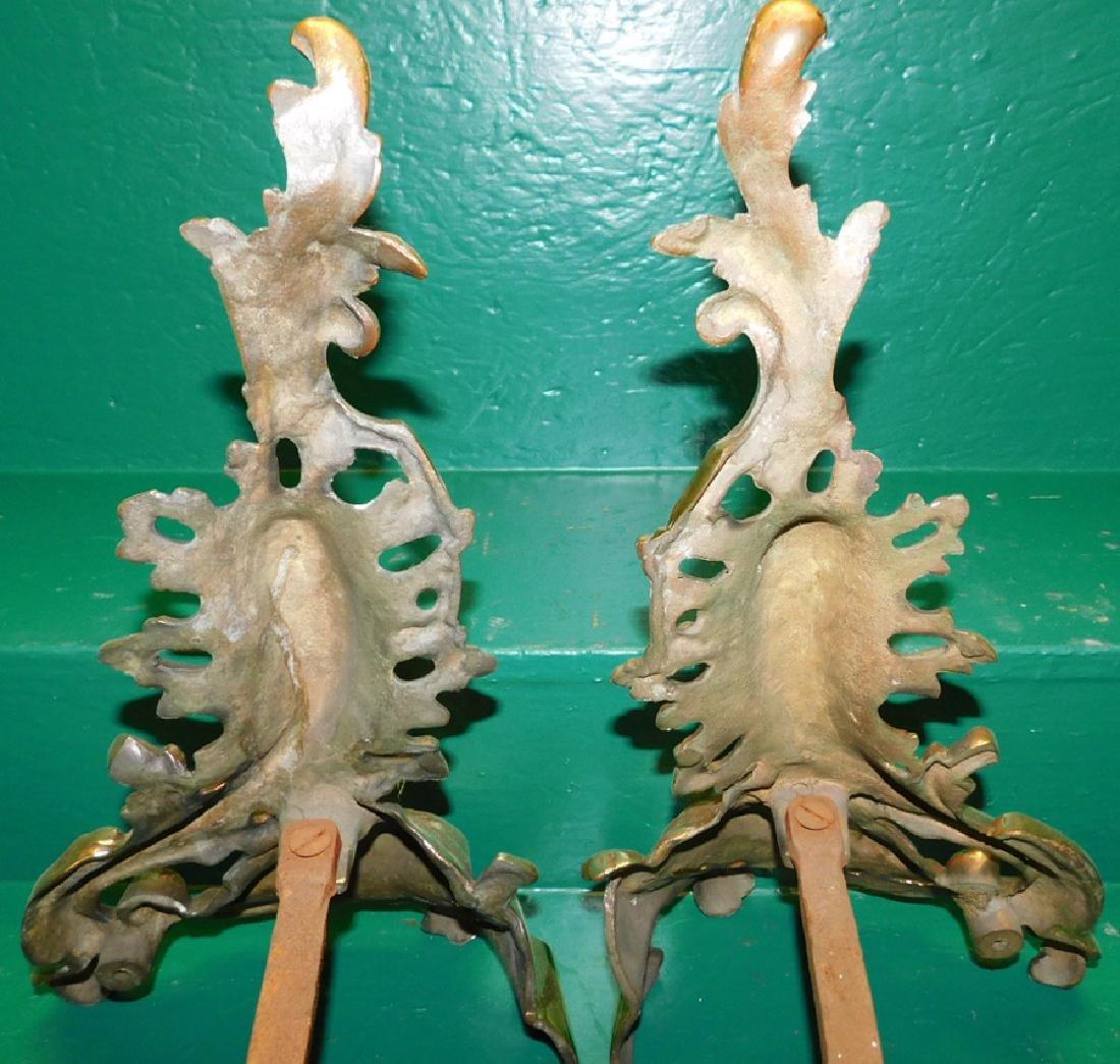 Pair Brass Chenets - 3