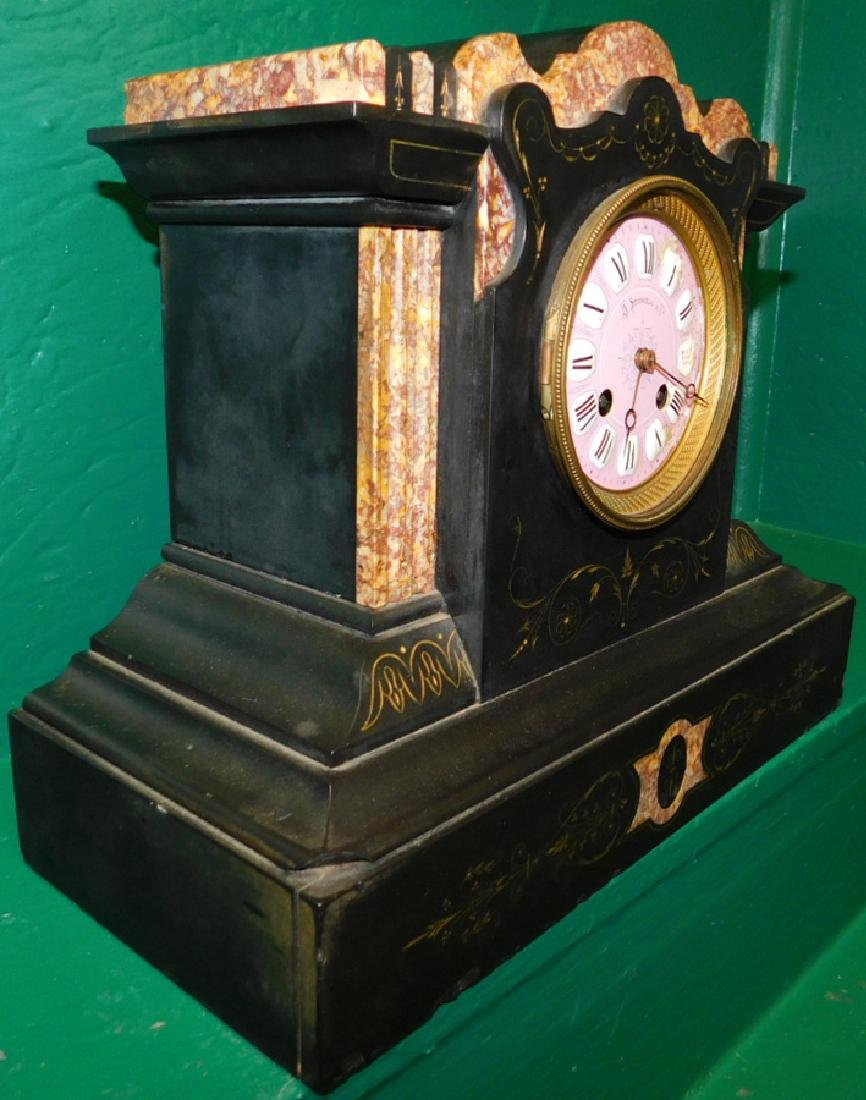 Marble Shelf Clock By Stowell - 3