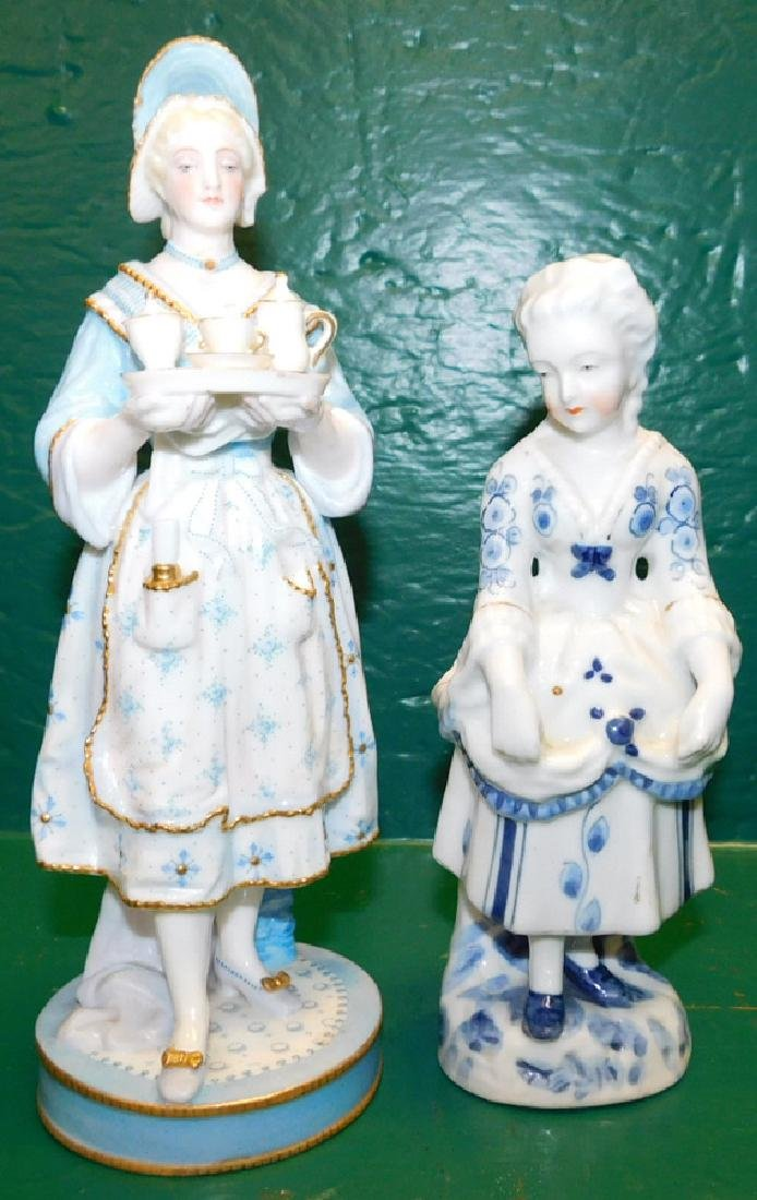 Two Blue & White Chelsea Figurines