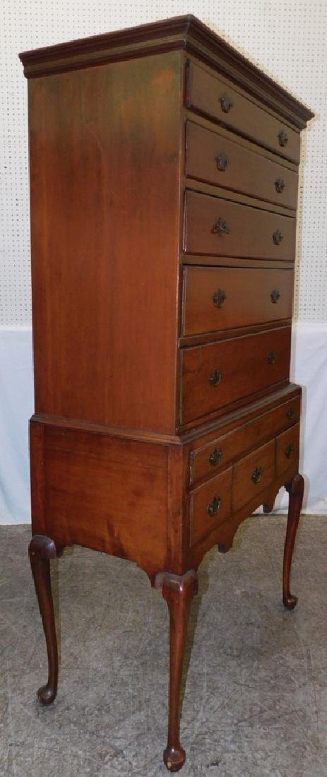 Cherry  Queen Anne Highboy - 3