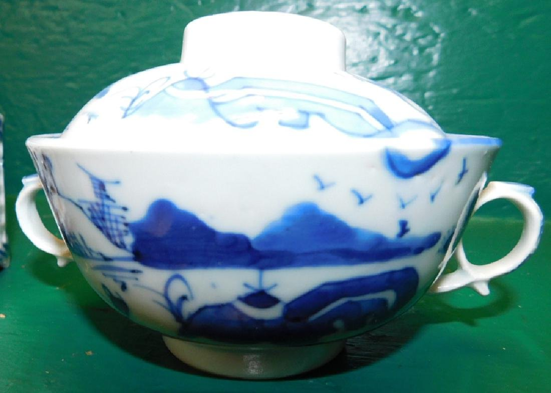 11 Pieces Blue & White Chinese Export Porcelain - 2