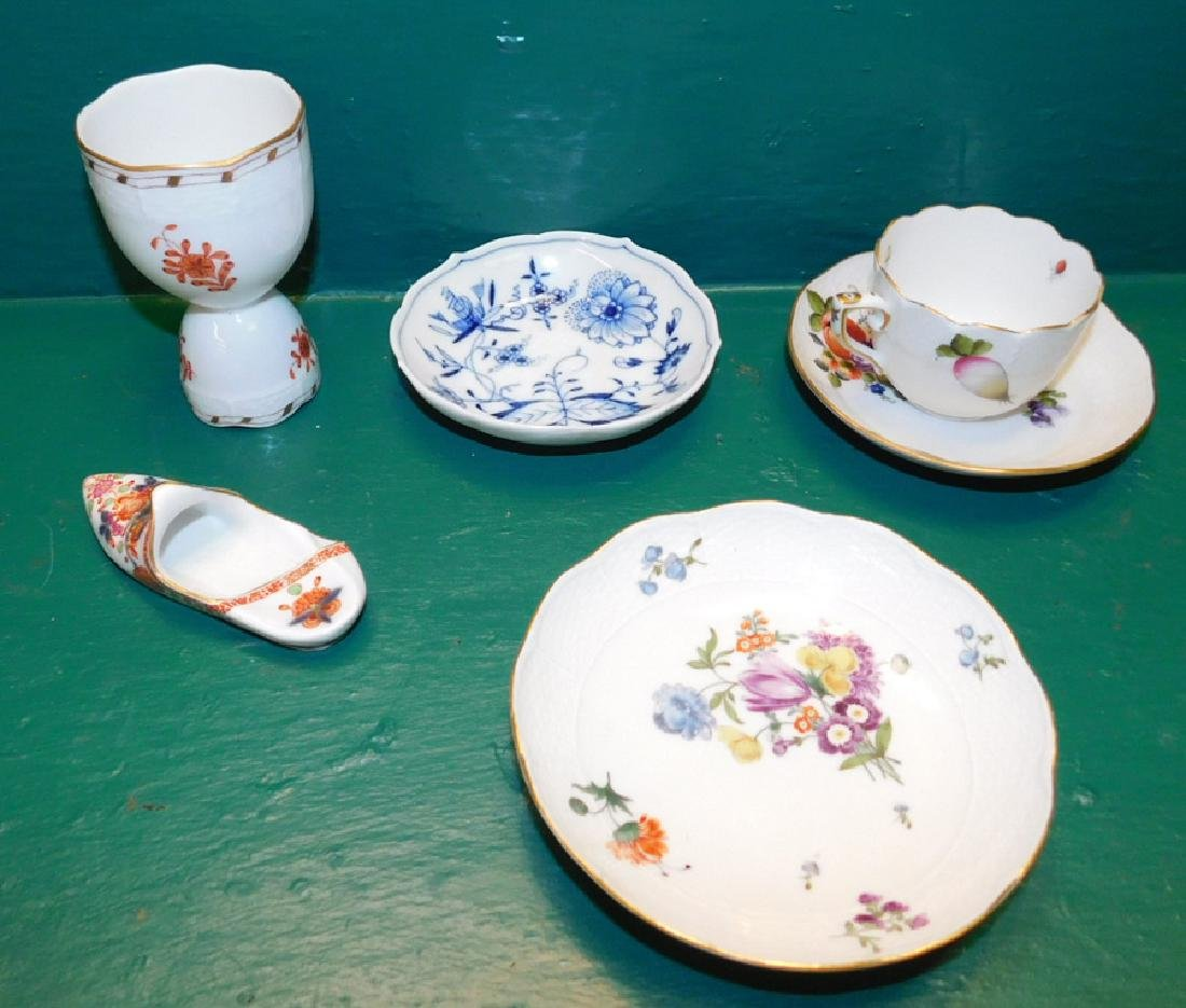 Grouping Of 6 Pieces Of  Meissen & Herend