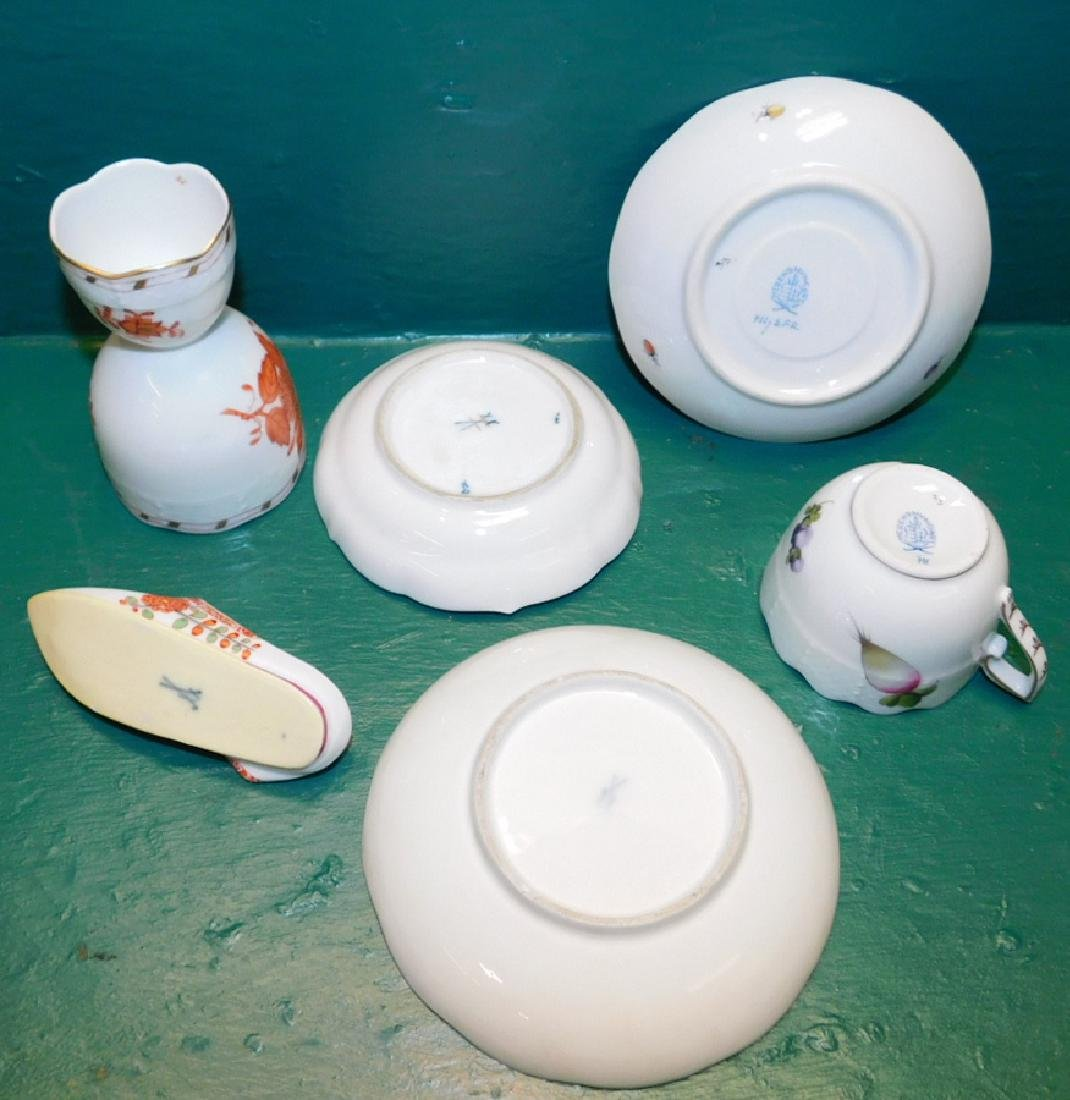 Grouping Of 6 Pieces Of  Meissen & Herend - 2