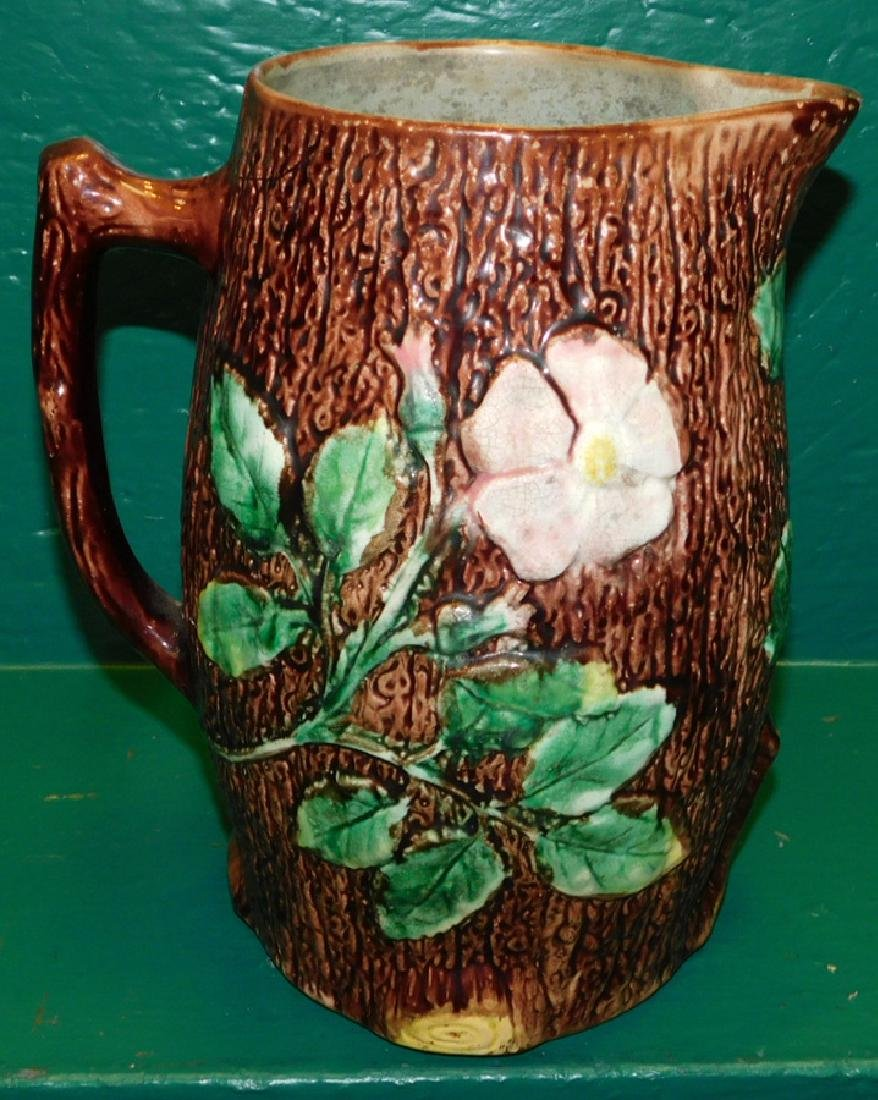 19th C Majolica Butter Milk Pitcher