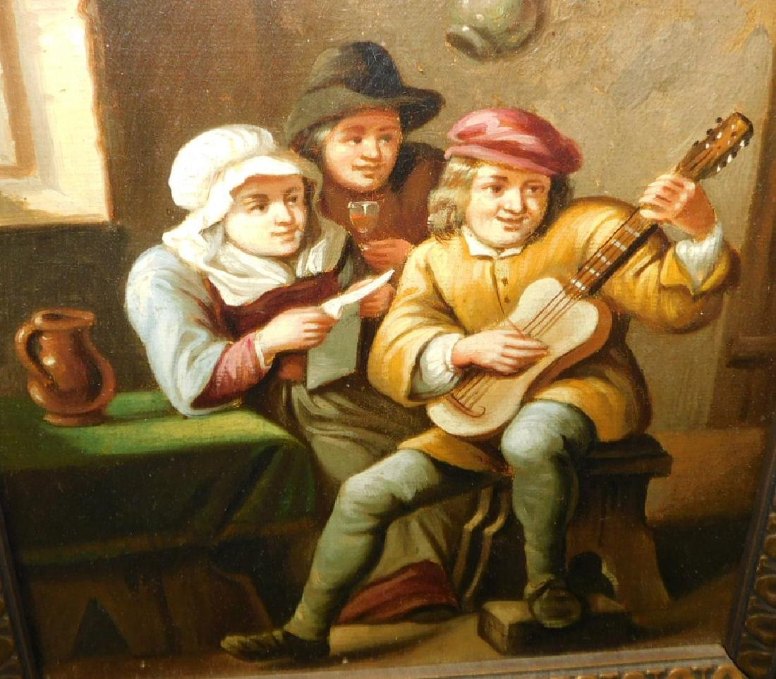 Pair of oil on canvas Musical & Playing - 3