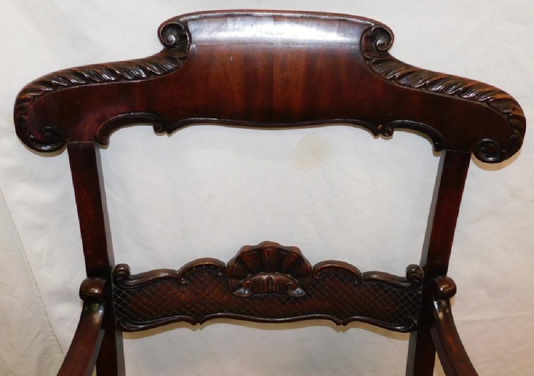 Pair Mahogany Regency Style Armchairs - 2