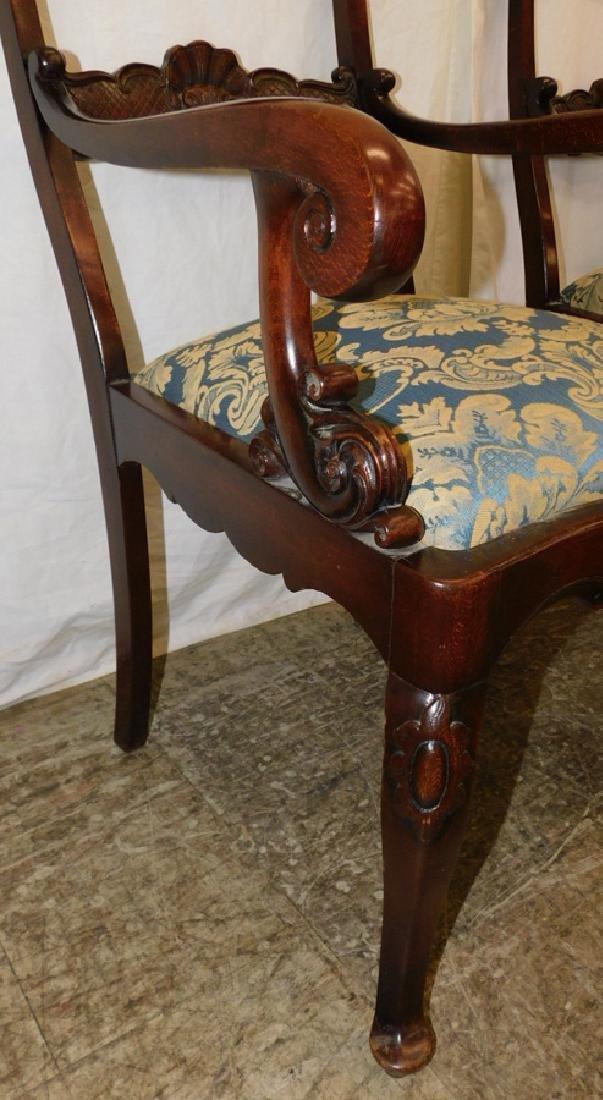 Pair Mahogany Regency Style Armchairs - 3