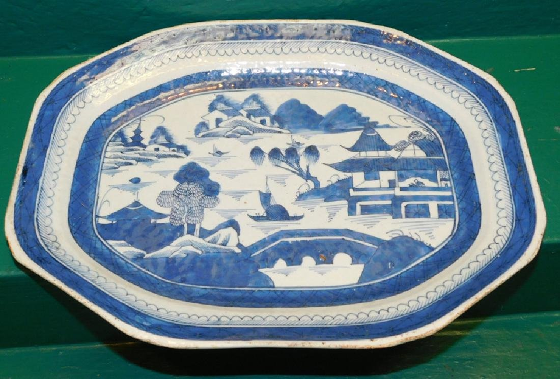 18th C Canton Platter