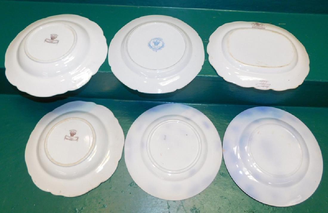 6 19th C English Transferware Ironstone Plates - 2