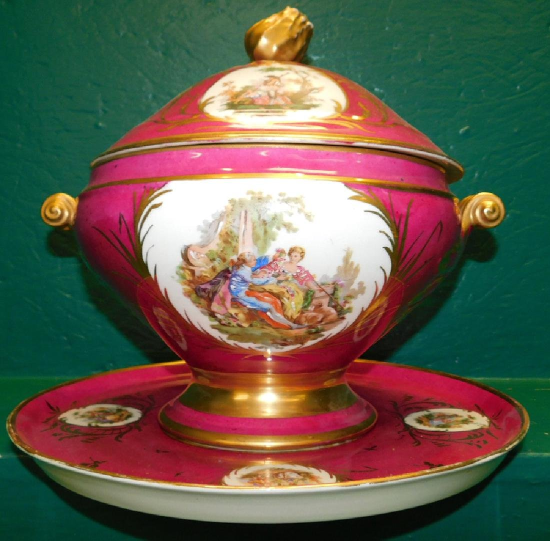 Sevres Covered Tureen With Underplate, Restored - 2