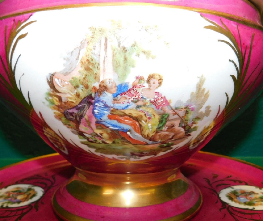 Sevres Covered Tureen With Underplate, Restored - 3