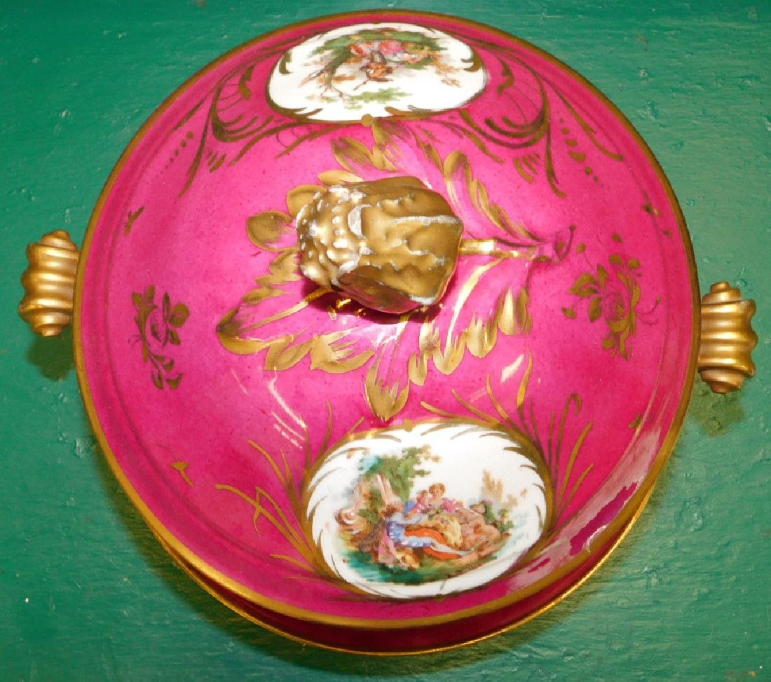 Sevres Covered Tureen With Underplate, Restored - 4