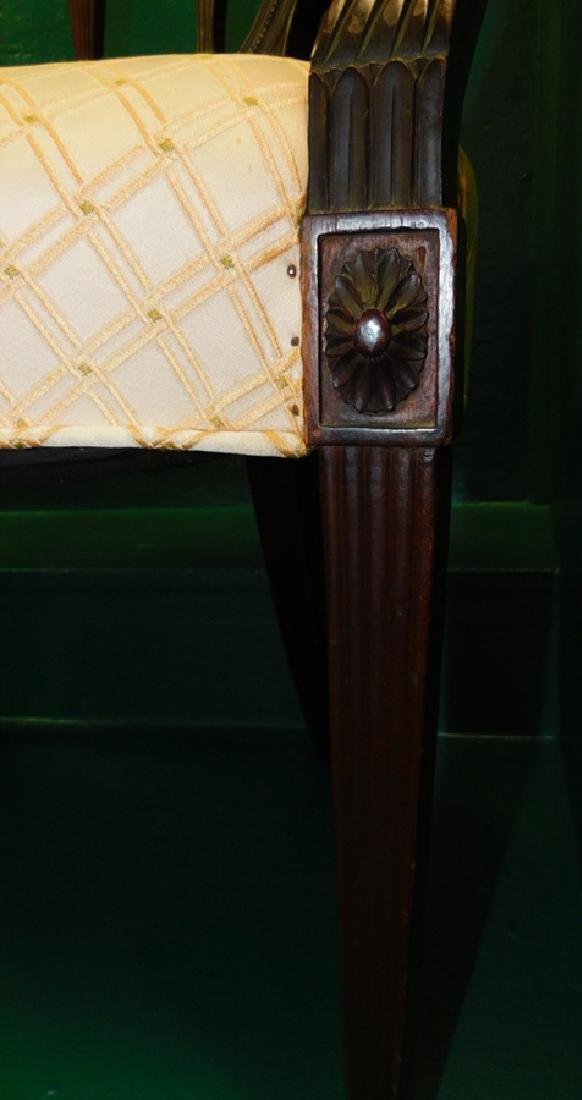 Pair Shield Back Mahogany Hepplewhite Arm Chairs - 3