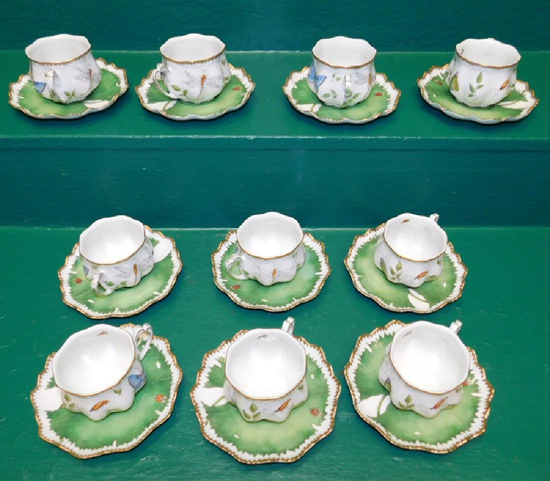 10 Anna Weatherly Morning Glory Cups & Saucers