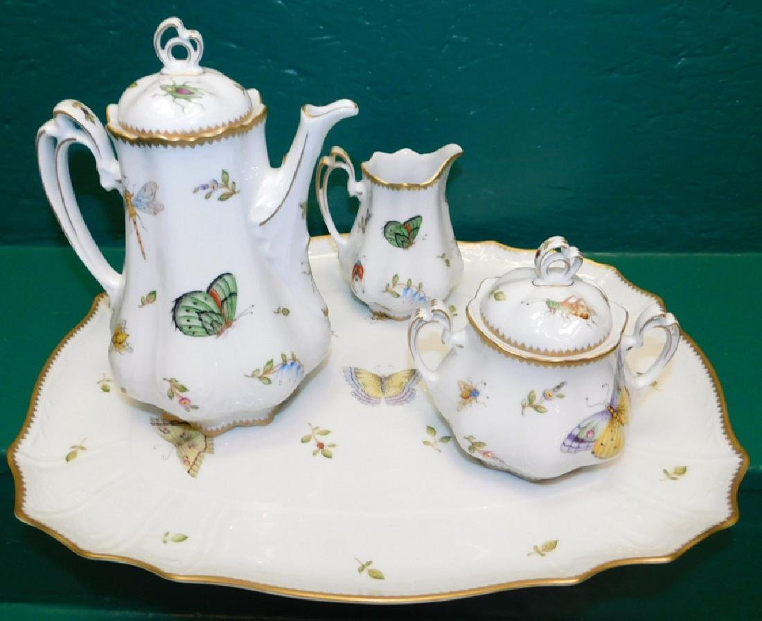 4 Pc Anna Weatherly Spring In Budapest Tea Service