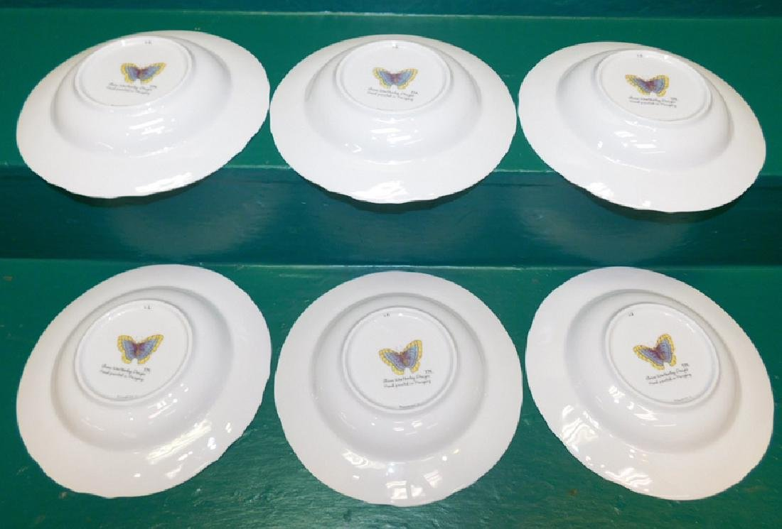 6 Anna Weatherly Green Leaf Soup Bowls - 2