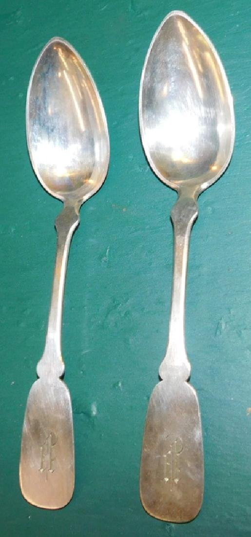 2 Continental Sterling Serving Spoons 3.4 Troy Oz