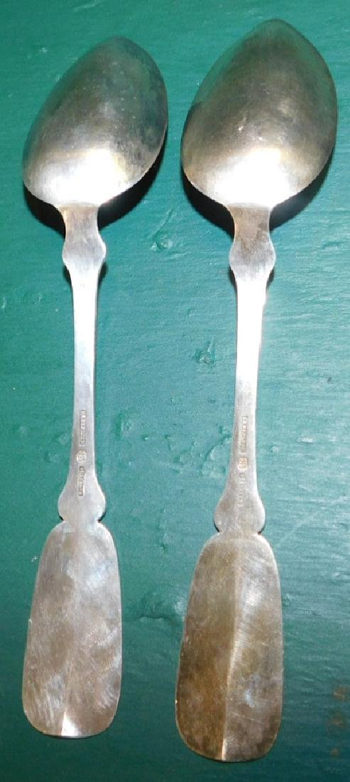 2 Continental Sterling Serving Spoons 3.4 Troy Oz - 2
