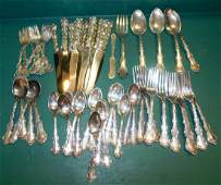 50 Pc Gorham Chantilly Sterling Flatware 44.1 TO