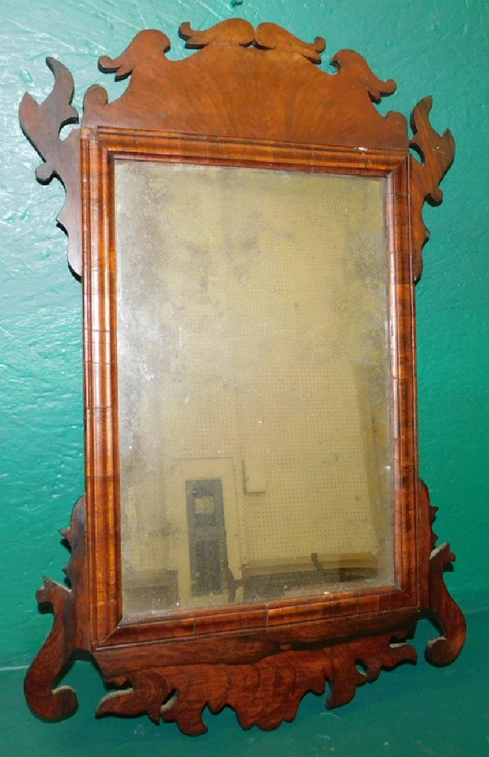18th C Queen Anne Rosewood Mirror
