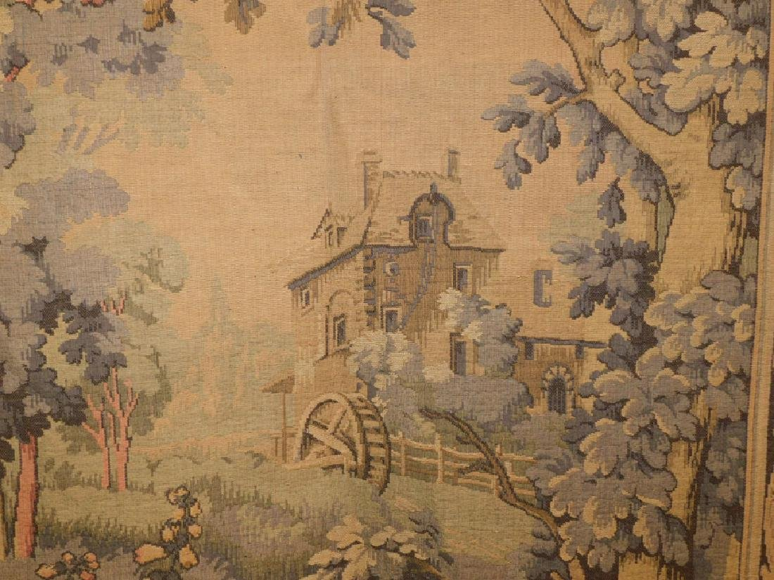 French Tapestry Of Mill Scene With Herring - 3