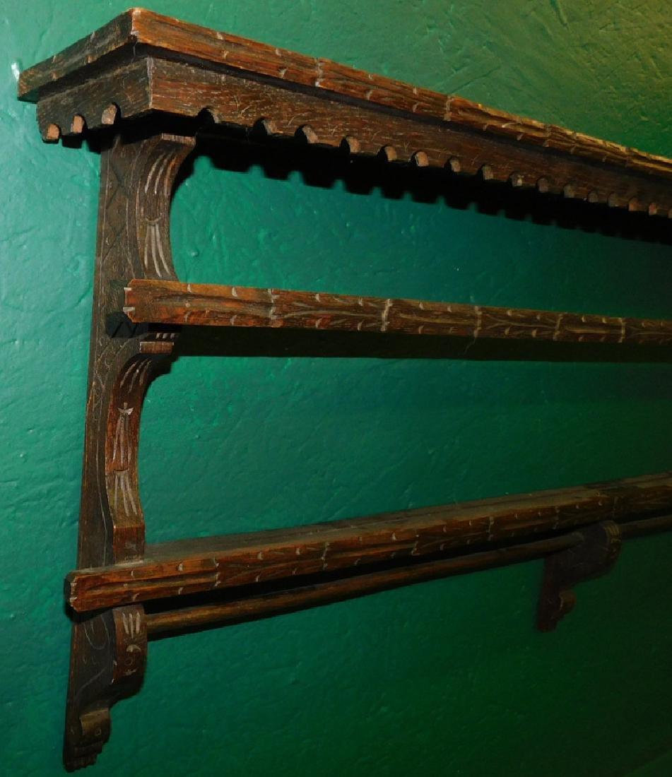 English Oak Hanging Plate Rack - 2