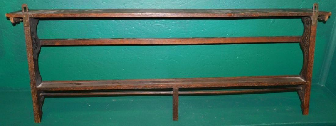 English Oak Hanging Plate Rack - 3