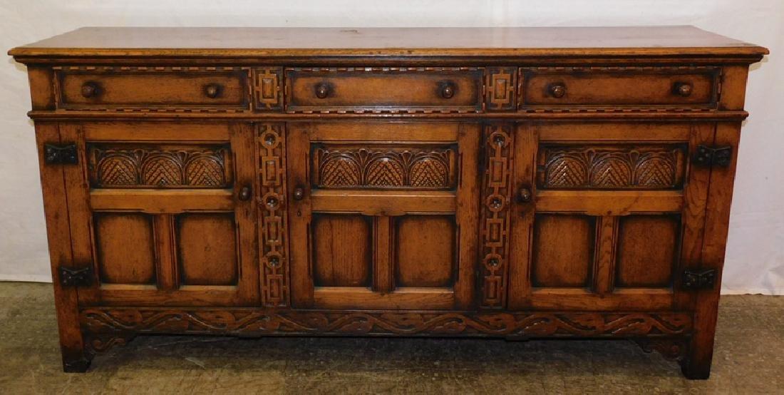 Edwardian English Oak Sideboard