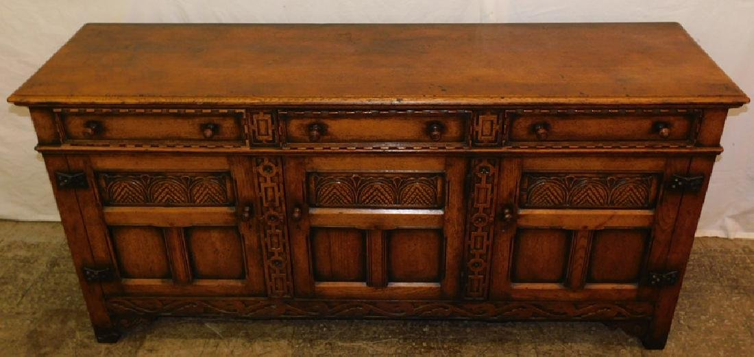 Edwardian English Oak Sideboard - 2
