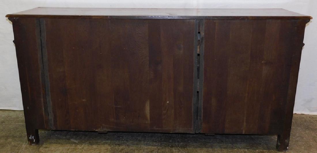 Edwardian English Oak Sideboard - 4