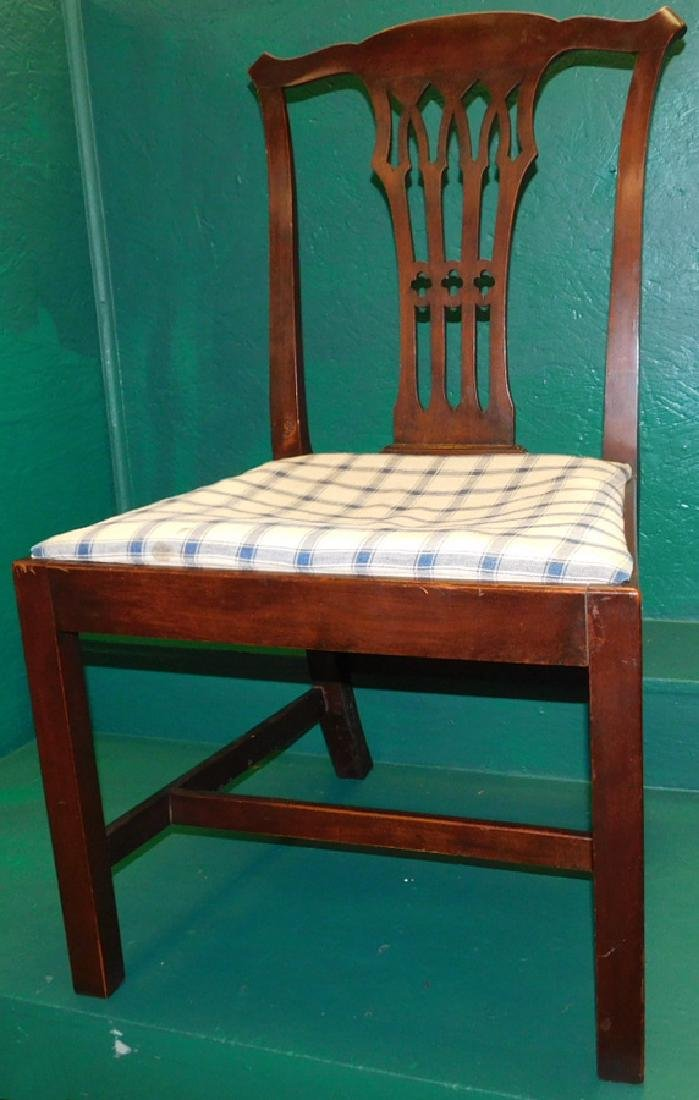 19th C Mahogany Chippendale Side Chair