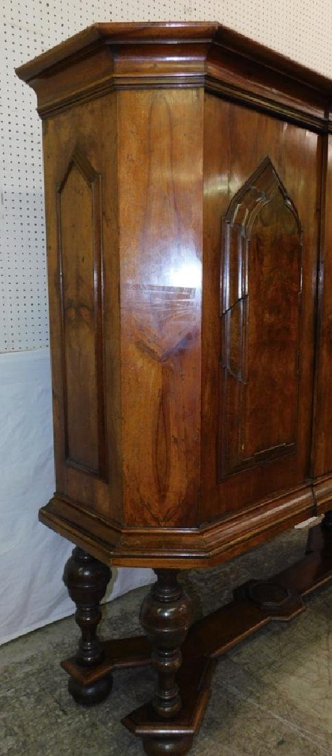 Walnut Fitted Interior Two Door Cupboard - 2