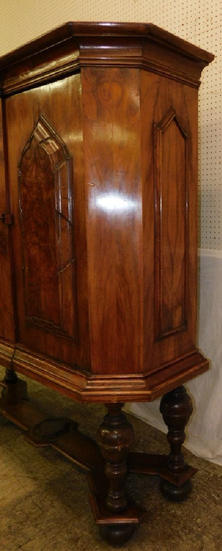 Walnut Fitted Interior Two Door Cupboard - 3