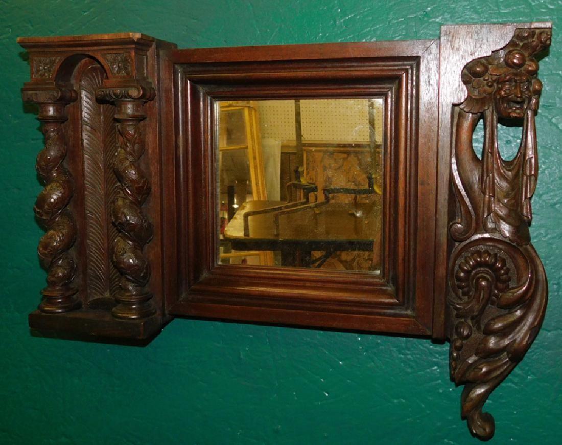 Carved Italian Walnut Mirror