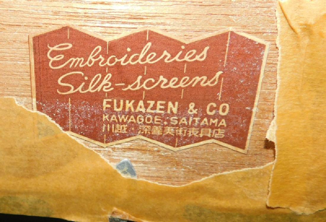Framed Silk Embroidery Of A Stream - 4