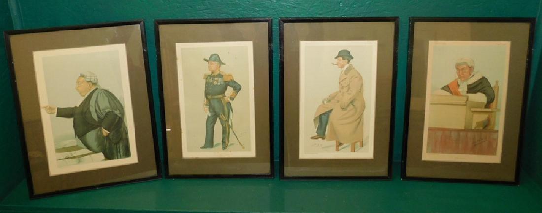 Four Framed Spy Prints