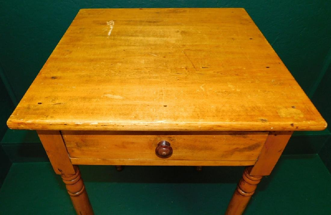 One Drawer Pine Work Table - 2
