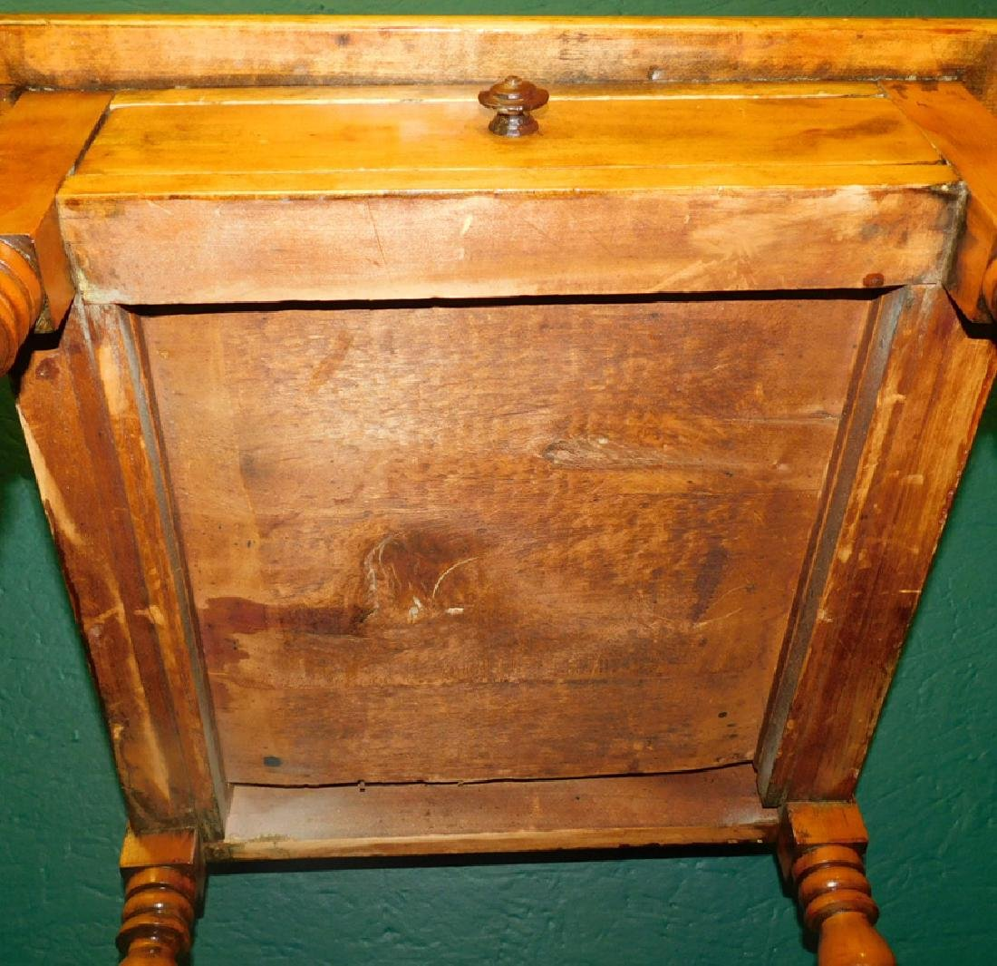 One Drawer Pine Work Table - 4