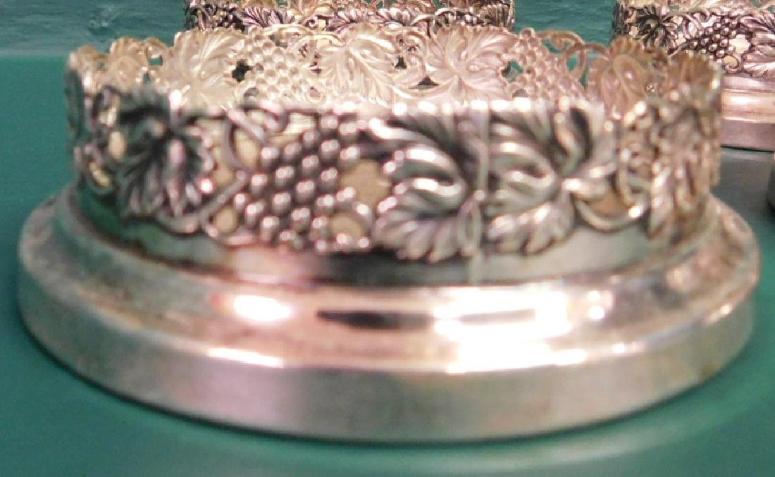 Four Sheffield Silverplated Coasters - 2