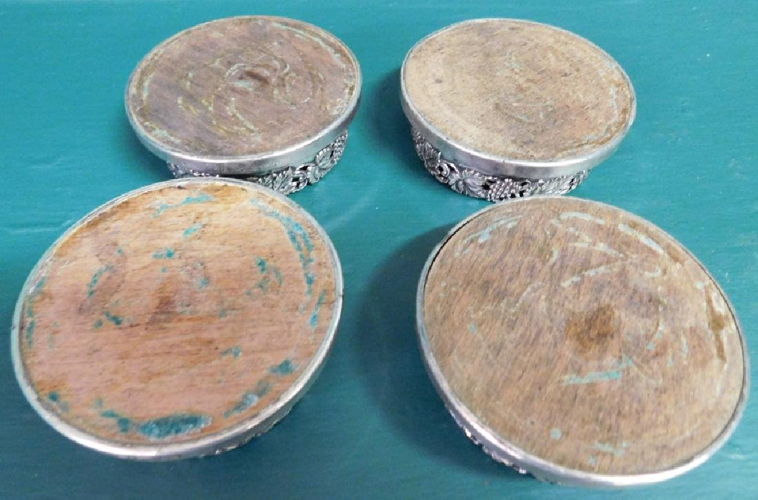 Four Sheffield Silverplated Coasters - 3