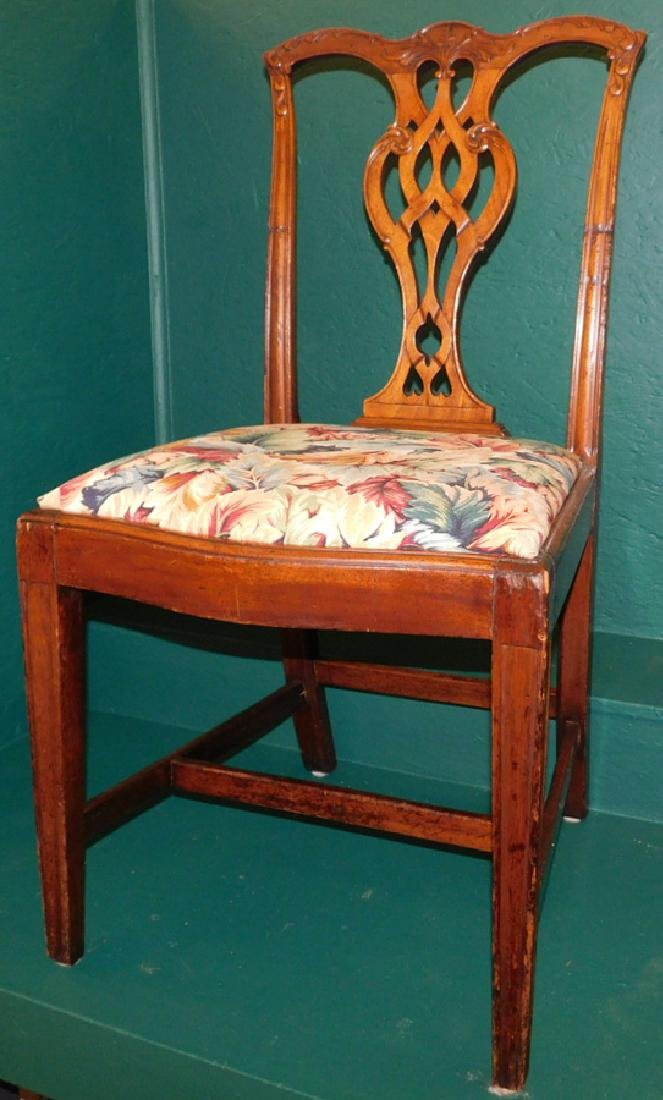 18th C Mahogany Chippendale Side Chair