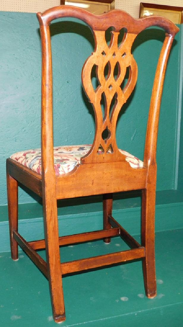 18th C Mahogany Chippendale Side Chair - 3