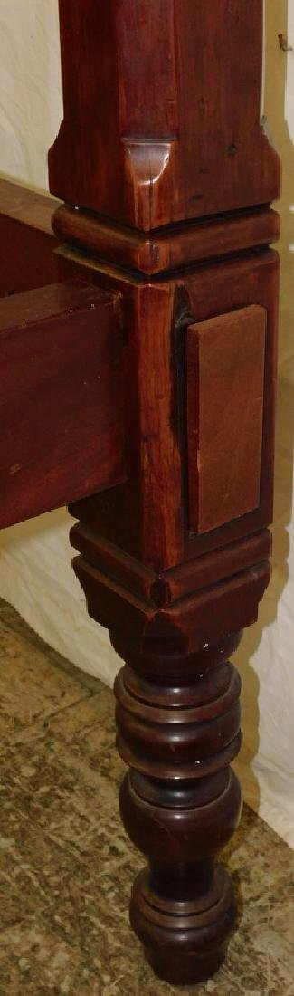 Mahogany 4 Poster Queen Bed w/ Canopy - 3