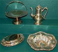 Four Silverplate Serving Pieces