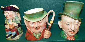 Collection 3 English Beswick Toby Mugs