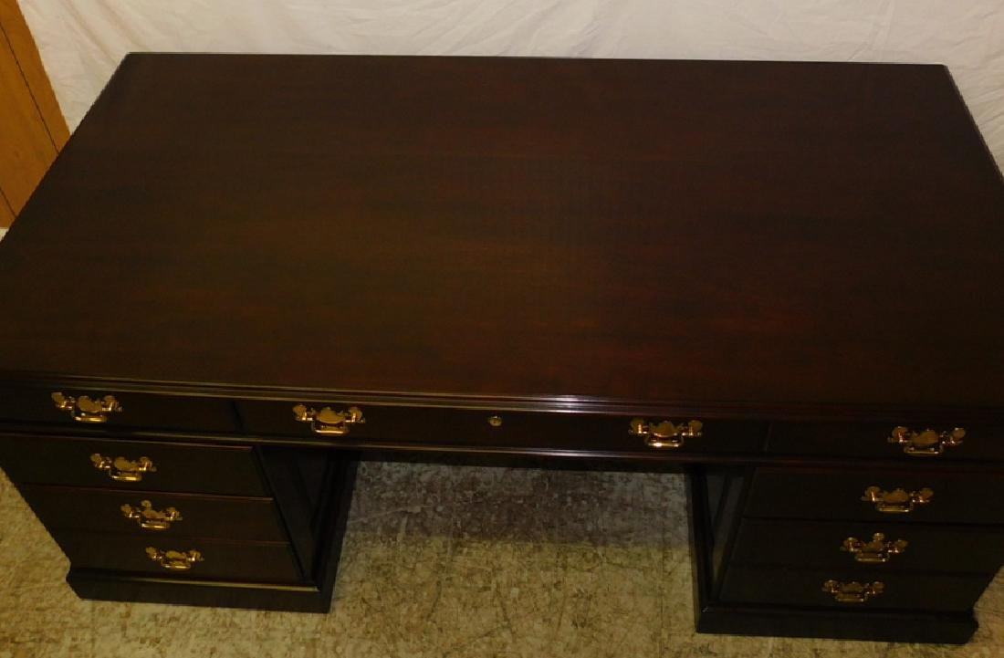 Cherry Executive Desk By Statton - 4