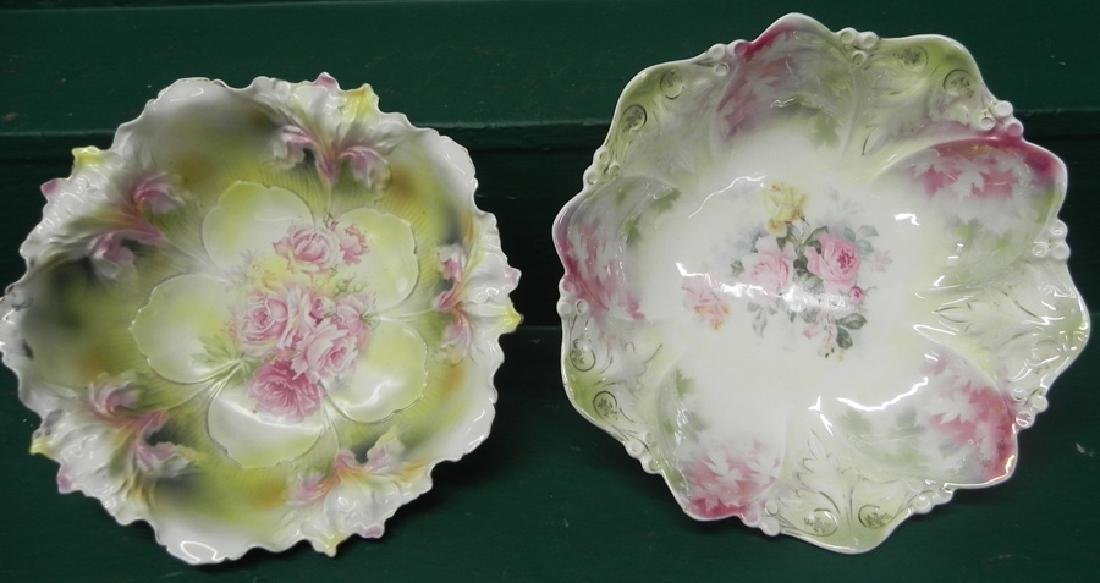 Two RS Prussia Handpainted Bowls