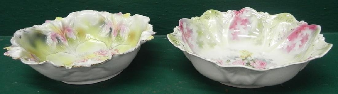Two RS Prussia Handpainted Bowls - 2